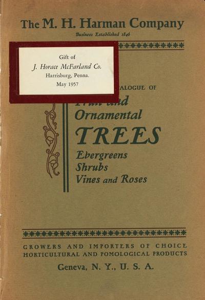 [M.H. Harman Company materials]