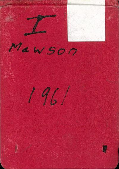 Mawson, Antarctica: Geological Field Notebook 1