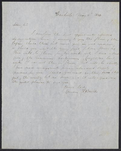 Spencer Fullerton Baird letters to Asa Gray,