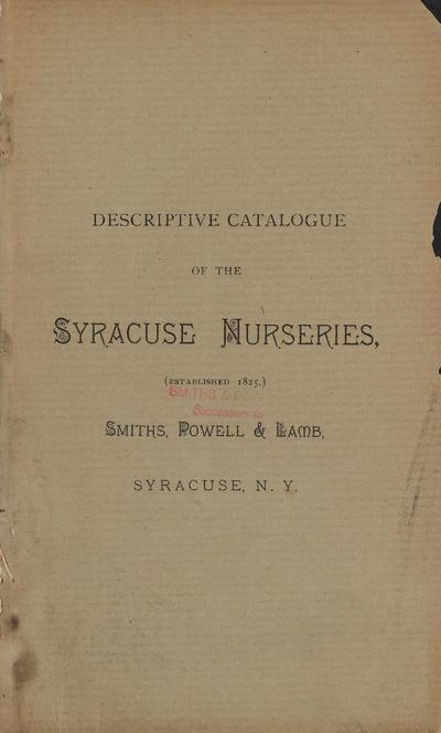 [Syracuse Nurseries materials]