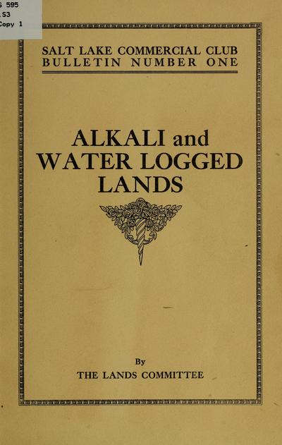 Alkali and water logged lands.