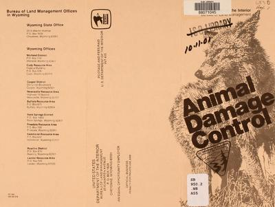 Animal damage control.