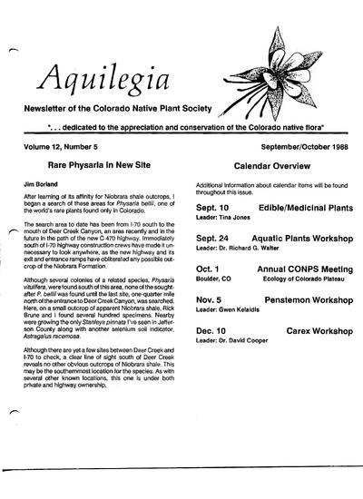 Aquilegia (Colorado Native Plant Society)