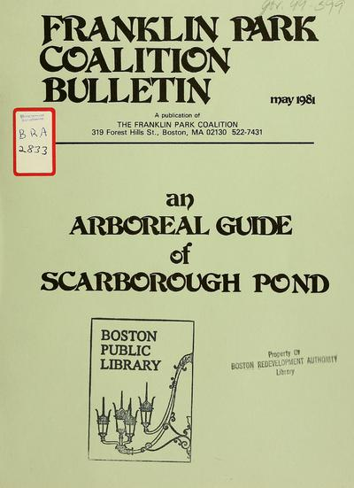 An arboreal guide of scarborough pond.