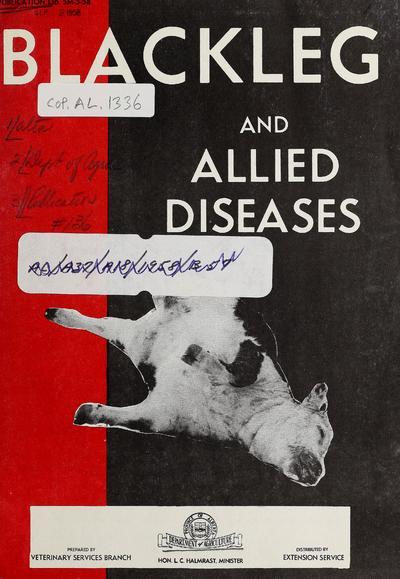 Blackleg and allied diseases / prepared by G.S. Wilton, H.N. Vance, H.C. Carlson.