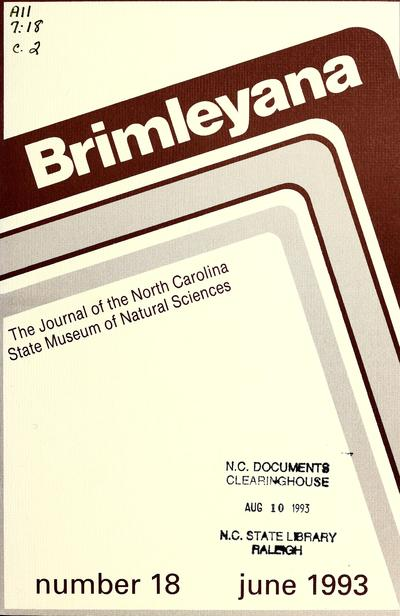 Journal of the North Carolina State Museum of Natural Sciences