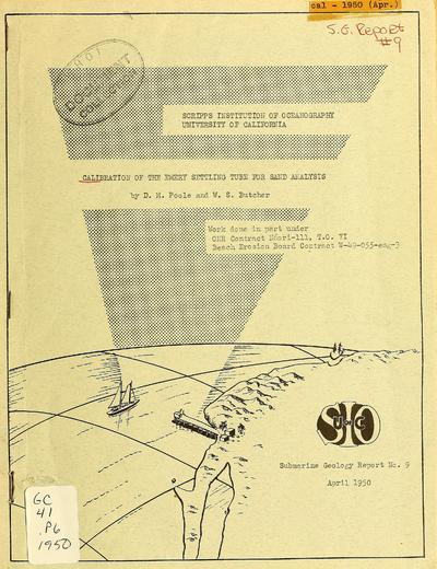 Calibration of the Emery settling tube for sand analysis / by Francis P. Shepard.