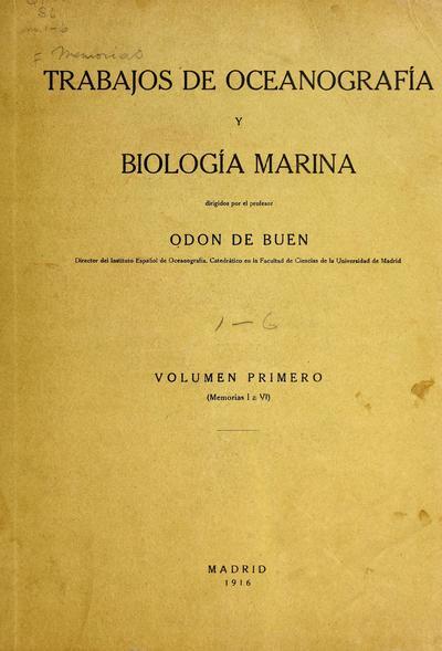 Memorias del Instituto español de oceanografía.