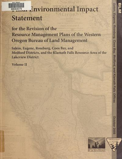 FEIS for the revision of the Western Oregon RMPs