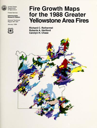 Fire growth maps for the 1988 greater Yellowstone area fires /
