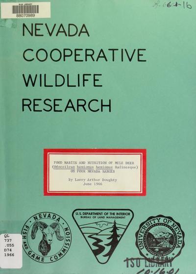 Nevada Cooperative Wildlife Research