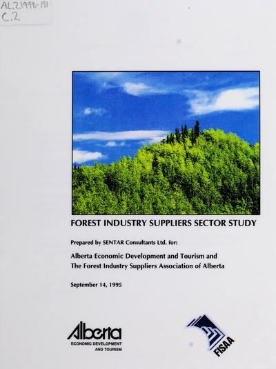 Forest industry suppliers sector study /