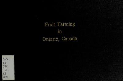 Fruit farming in Ontario, Canada /