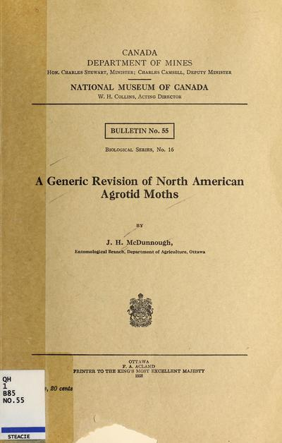 A generic revision of North American agrotid moths