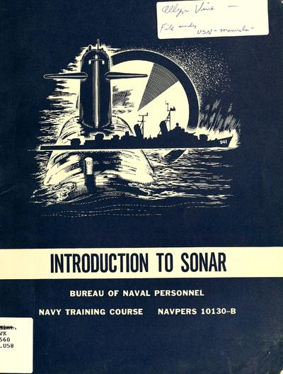 Introduction to sonar. [Prepared by the Navy Publications Center.
