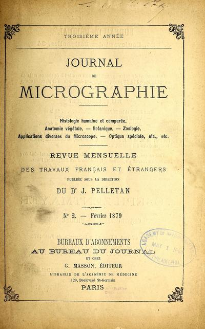 Journal de micrographie.