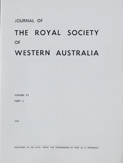 Journal of the Royal Society of Western Australia.