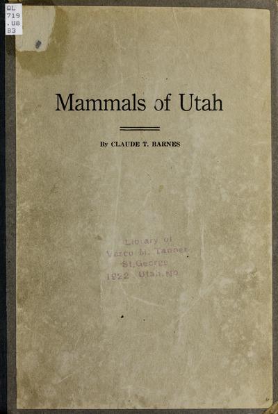 Mammals of Utah /