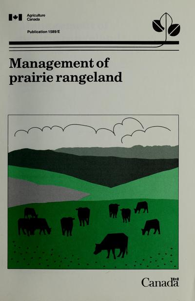 Management of prairie rangeland /