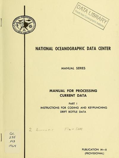 Manual for processing current data.