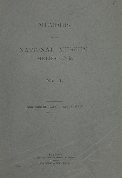 Memoirs of the National Museum, Melbourne