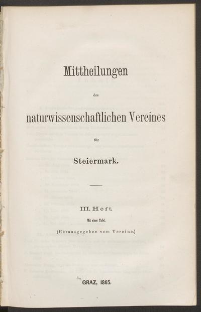 Mitteilungen des Naturwissenschaftlichen Vereines für Steiermark.