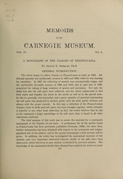 Monograph of the Naiades of Pennsylvania
