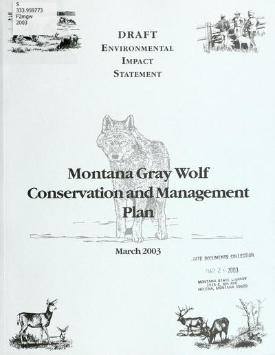Wolf conservation and management plan