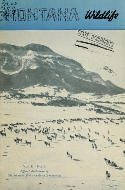 Montana wildlife (Helena, Mont. : 1950)