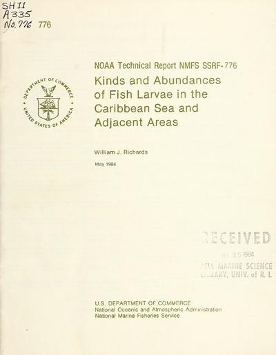 NOAA tech. rep. NMFS SSRF