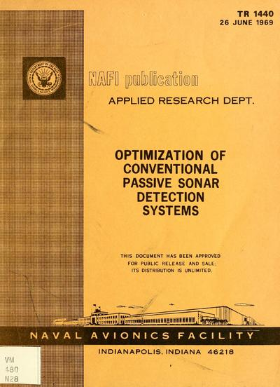 Optimization of conventional passive sonar detection systems.