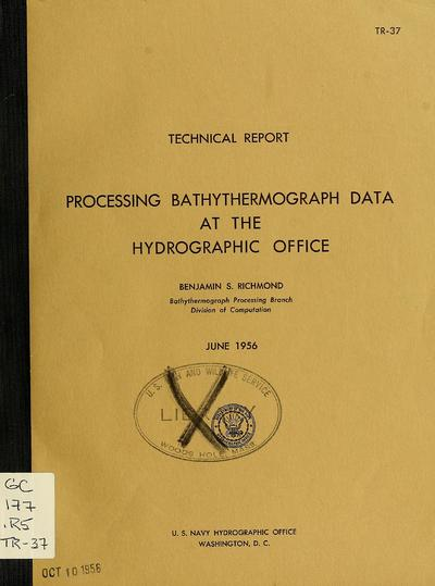 Processing bathythermograph data at the Hydrographic Office.
