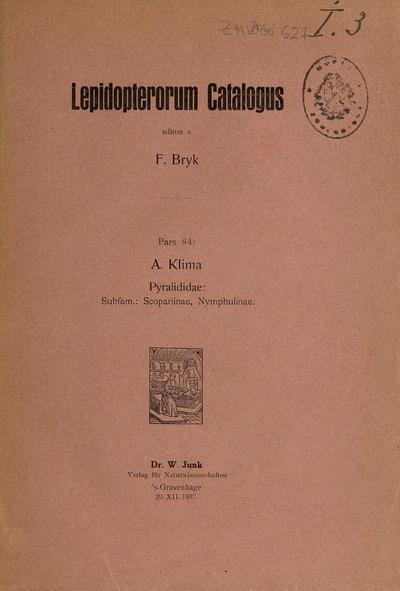 Pyralididae : Subfam.: Scopariinae et Nymphulinae /