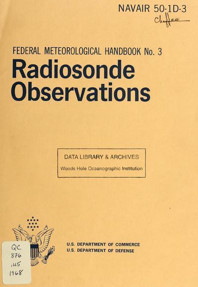 Radiosonde observations : effective January 1, 1969.