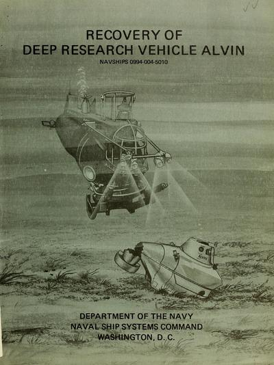 Recovery of deep research vehicle Alvin.