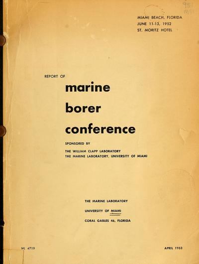 Report of marine borer conference.