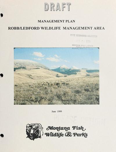 Robb/Ledford Wildlife management area : draft management plan.