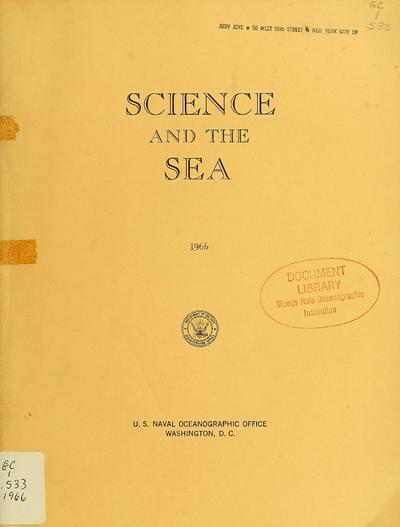 Science and the sea.