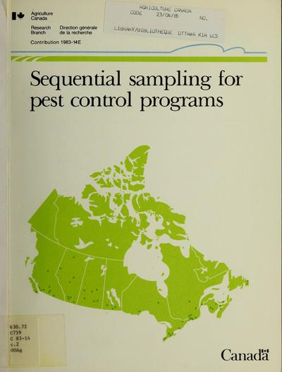 Sequential sampling for pest control programs /