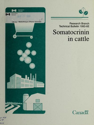 Somatocrinin in cattle /