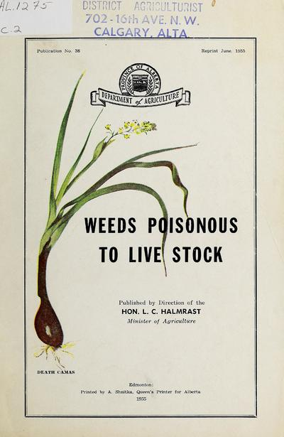 Weeds poisonous to livestock /