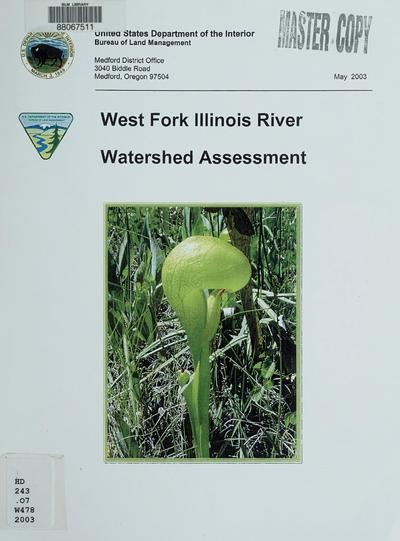 West Fork Illinois River Watershed analysis
