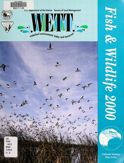 Waterfowl environments today and tomorrow