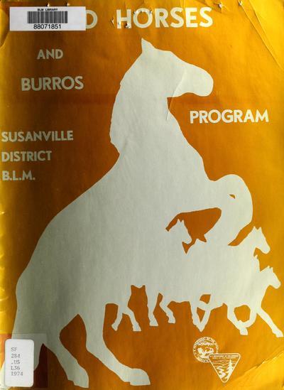 Wild horses and burros program /