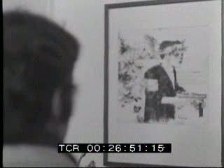 Mostra di pittura a Roma organizzata dal Partito Socialista Italiano per la Grecia libera.