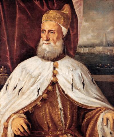 Francesco Donato (um 1468-1553), Doge von Venedig, Halbfigur