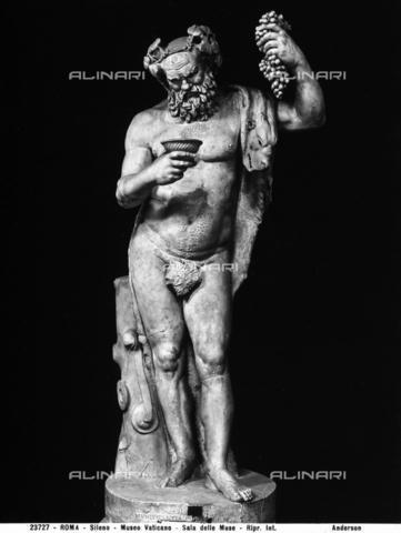 Roman statue of Silenus, in the Vatican Museums, Vatican City