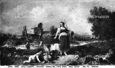 Rural scene, painting by Francesco Zuccarelli, preserved in the National Gallery of Ancient Art in Palazzo Corsini, Rome