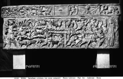 Christian sarcophagus with rural scenes preserved in the Gregorian Profane Museum in Vatican City. It was transferred from the Lateran Museum in 1970