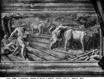 The sowing time, by Carlo Maratta, in the Vatican Museums, Vatican City